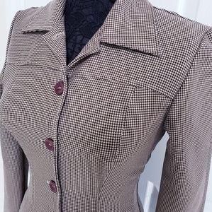 Vintage Houndstooth Blazer Made in USA